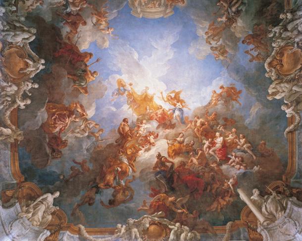 天顶油画|天顶油画人物|天花板油画-先行油画(大芬)