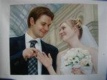 婚纱照 油画