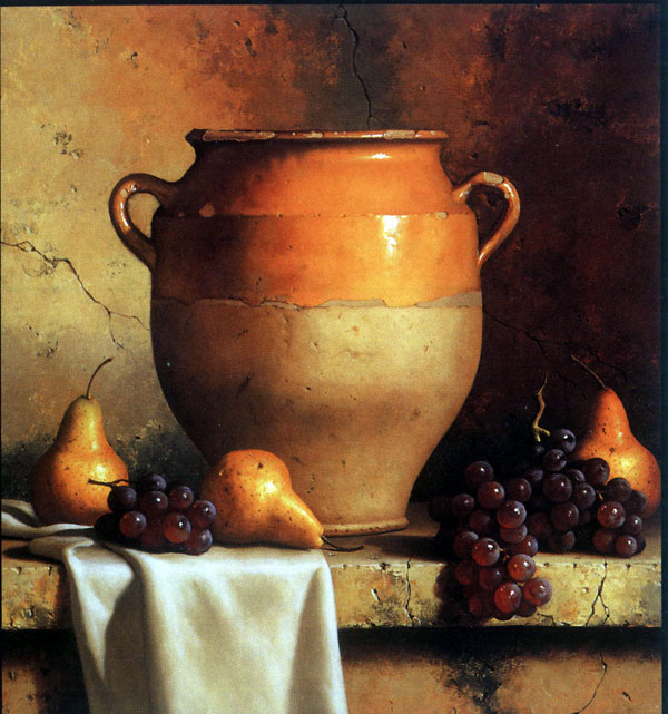 家庭装饰 陶瓷油画 写实静物油画图片