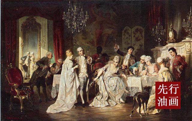 舞会party 法式古典人物装饰画