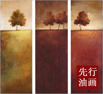 三联无框装饰画 简约的装修风格 风景画