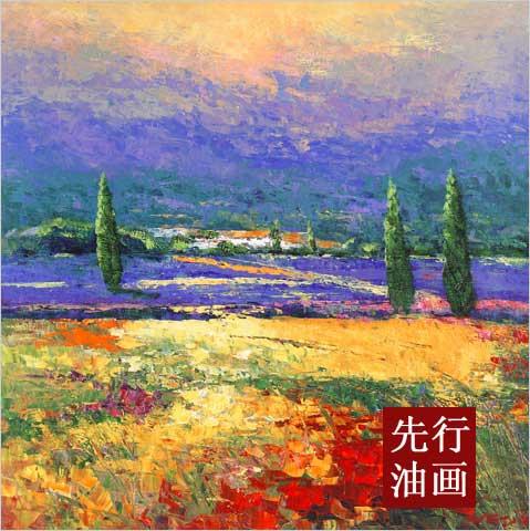 油画风景作品欣赏 抽象类