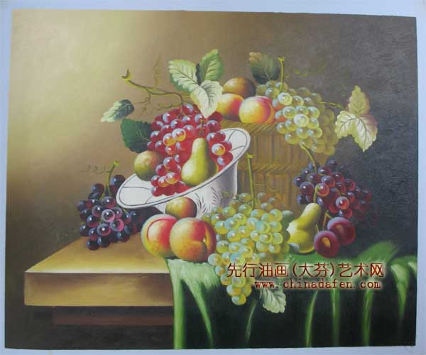 静物装饰画之水果篮