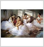 芭蕾舞系列油画作品