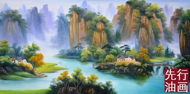 山水人体风景图片