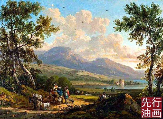 欧式古典风景油画 - 风景画