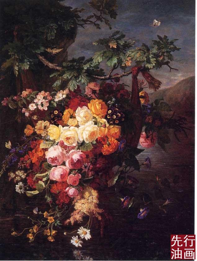 欧式客厅装饰画 新古典风格花卉