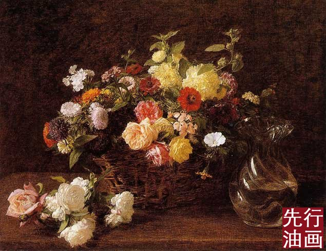 现代油画手绘 古典花卉客厅
