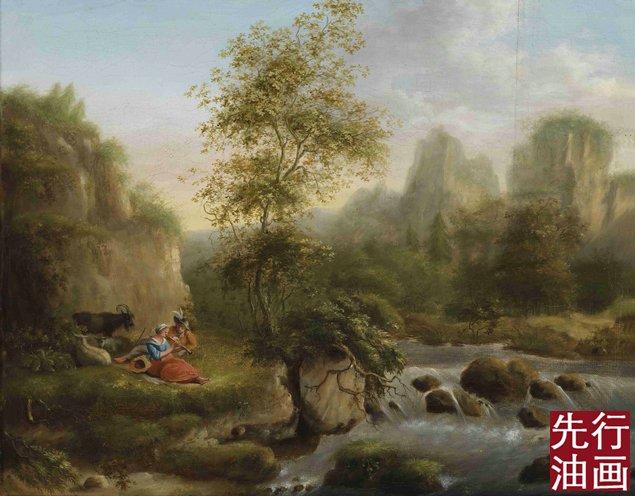 无框画 - 古典油画风景 - 先行油画(大芬)艺术网