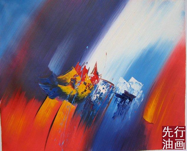 抽象装饰油画图片