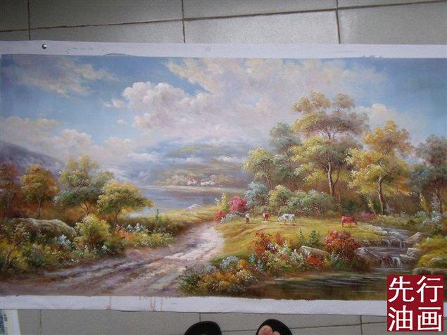 风景油画 图片