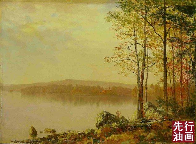 秋色古典风景油画