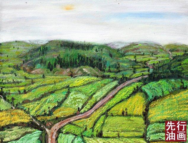 田园风光油画 - 田园风景油画