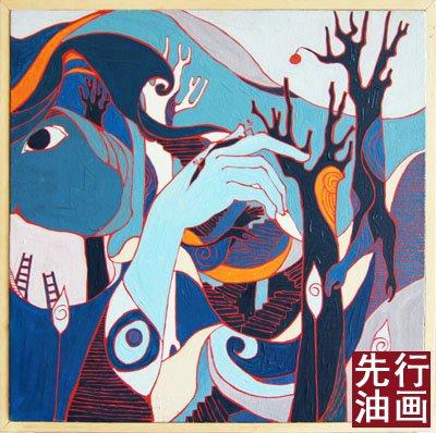 客厅挂画图片 - 人物抽象画 - 先行油画(大芬)艺术网