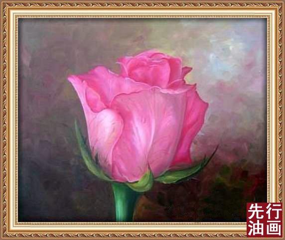 油画玫瑰画法步骤图