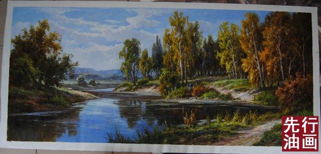 山水客厅油画风景